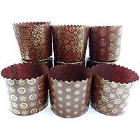 Large Panettone Paper Mold Standart - 24pcs, H 3.54″x3.54″ W (9cm x9cm) Kulich Mold - Round Panettone Paper Baking Molds…