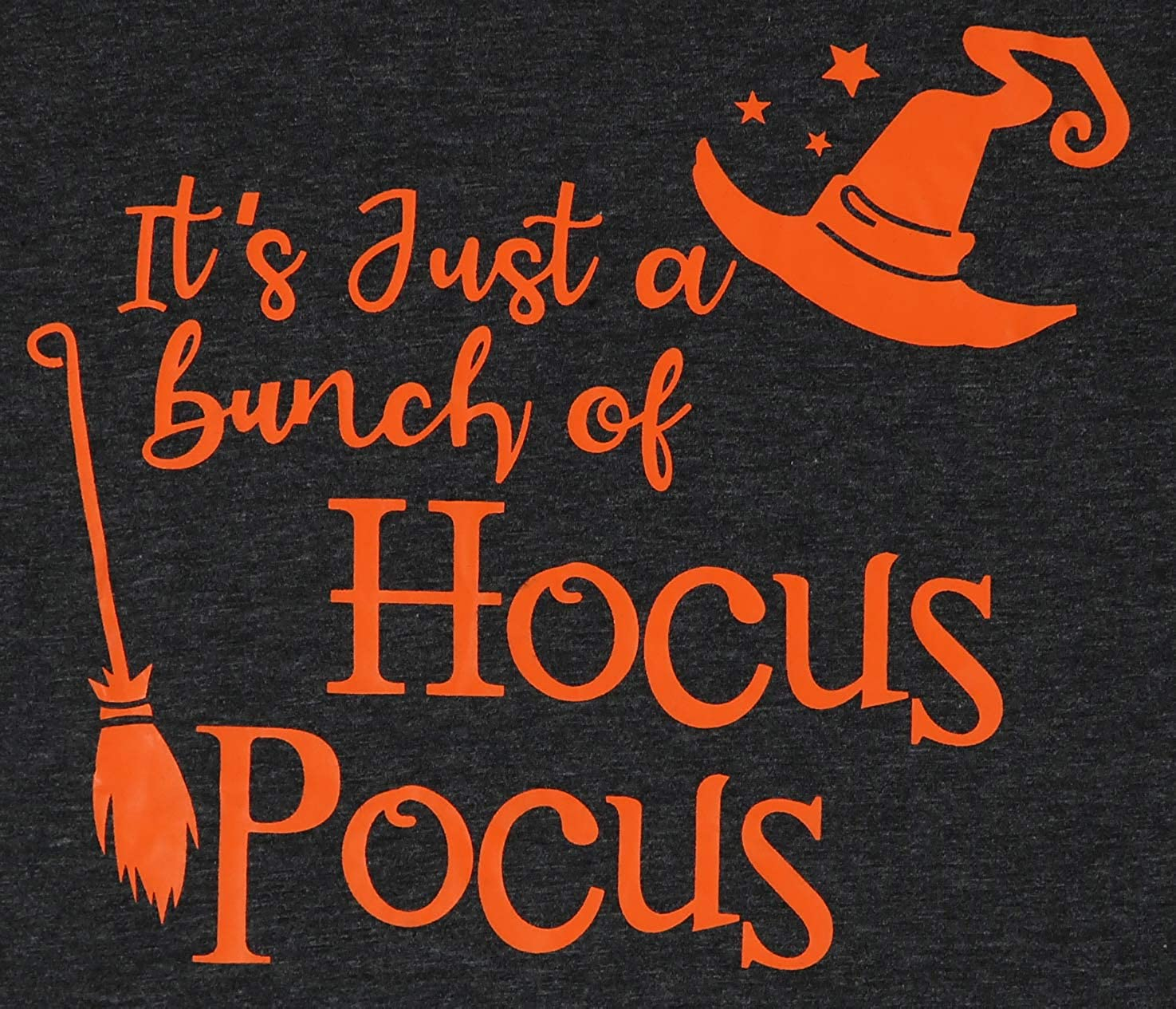 TAOHONG Halloween Its Just A Bunch of Hocus Pocus T-Shirt Womens Funny Witch Graphic Blouse Tee Tops