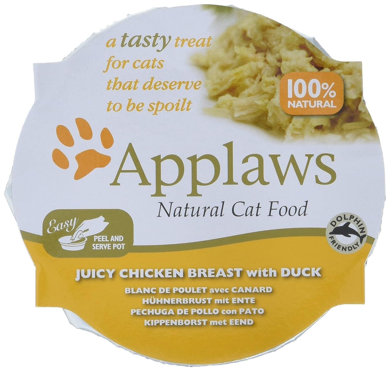 Applaws Cat Juicy - Mama de Pollo con macetas de Pato, 10 x 60 g: Amazon.es: Productos para mascotas