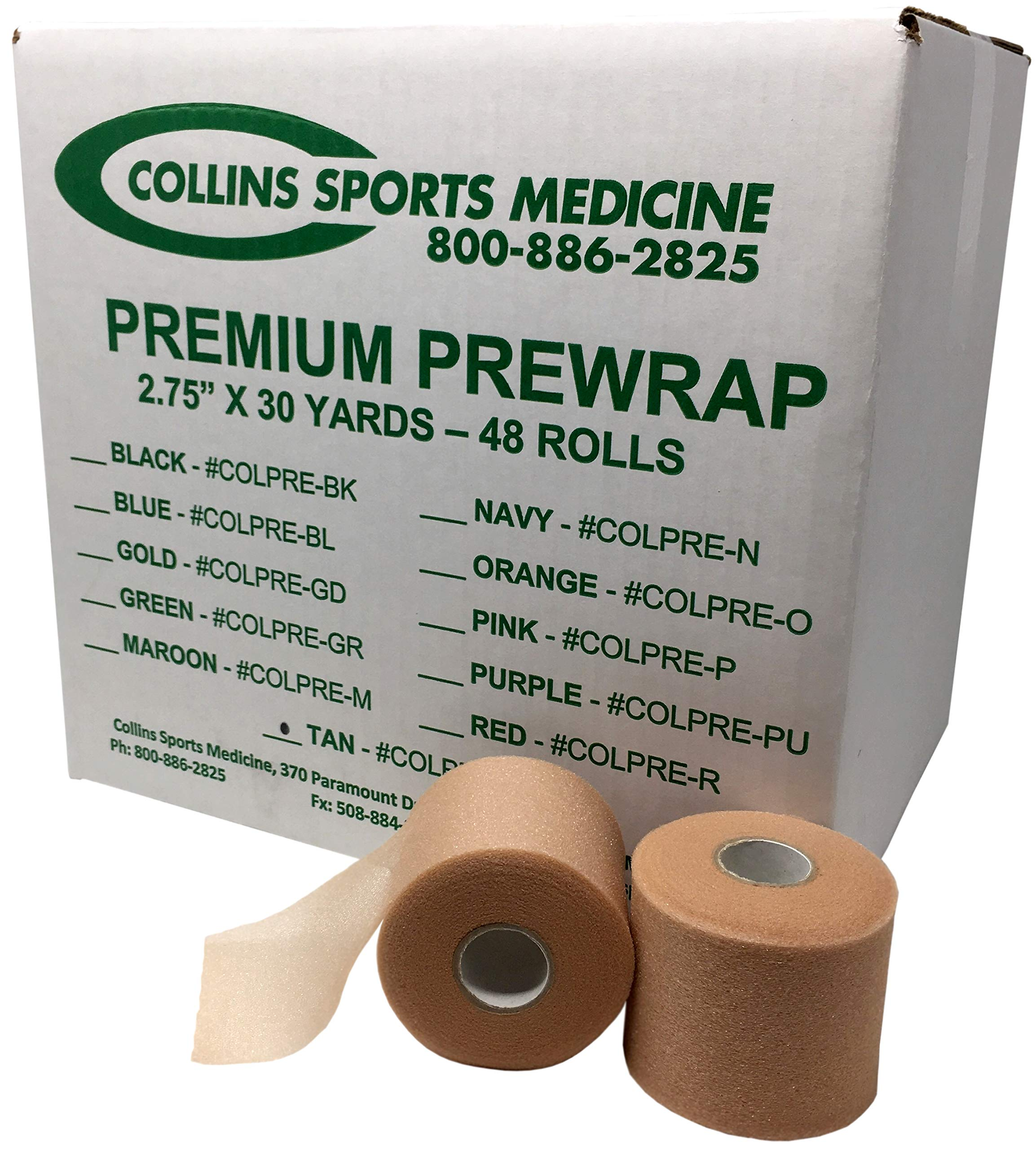 Collins Premium Athletic Prewrap - 2.75'' x 30yd - Tan (48/Case)