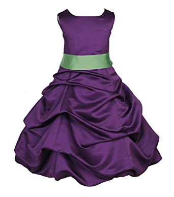 Purple Wedding Flower Girl Dresses