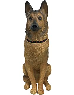 Universal Sculptural Garden Happy German Shepherd Statue (Handcrafted Home  And Outdoor Garden Statue),