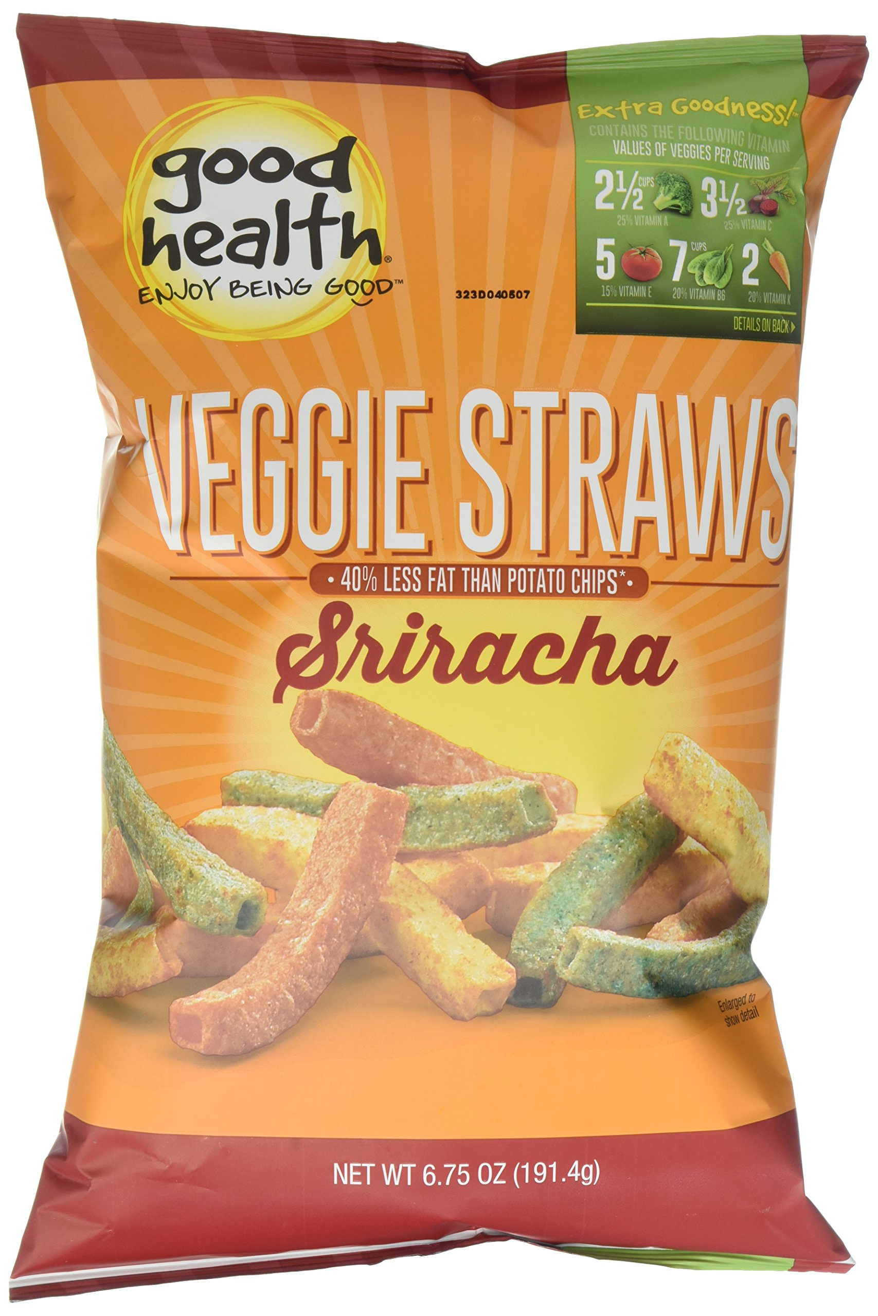 Good Health Veggie Straws, Sriracha, 10 Count (Pack of 10)
