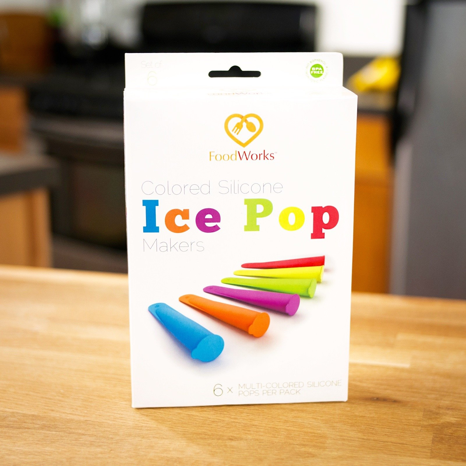 FoodWorks Silicone Ice Pop Maker Molds/Popsicle Molds, Set of 6 by FoodWorks (Image #7)