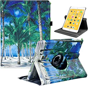 iPad 9.7 2018/2017, iPad Air 2, iPad Air Case - Rotating Stand Protective Cover with Auto Sleep Wake for Apple New iPad 9.7 inch (6th Gen, 5th Gen) / iPad Air 2013 Model(Coconut)