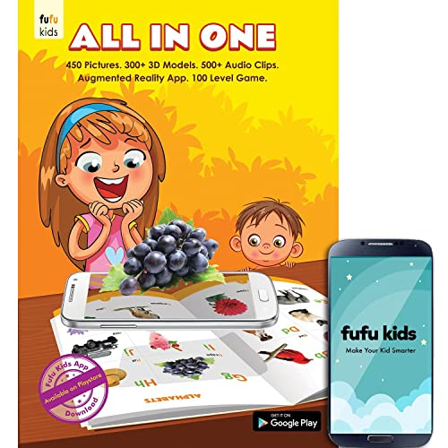 Fufu All In One - 3D Picture Book for 2-6 yr kids (Activity Book) - Augmented Reality Educational Book - Free Android App
