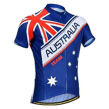 Monton Australia Flag Short Sleeve Cycling Jersey S Blue  Amazon.co ... 19f5467e5