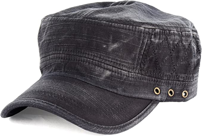New Vintage BDU Solid Colors Army Cotton Military Style Cap with Pocket Flap