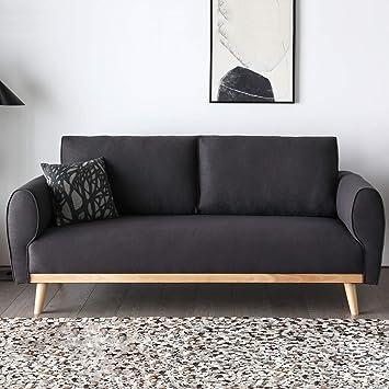Mon Usine Discount Le Viggo - : sofá escandinavo Gris Oscuro ...