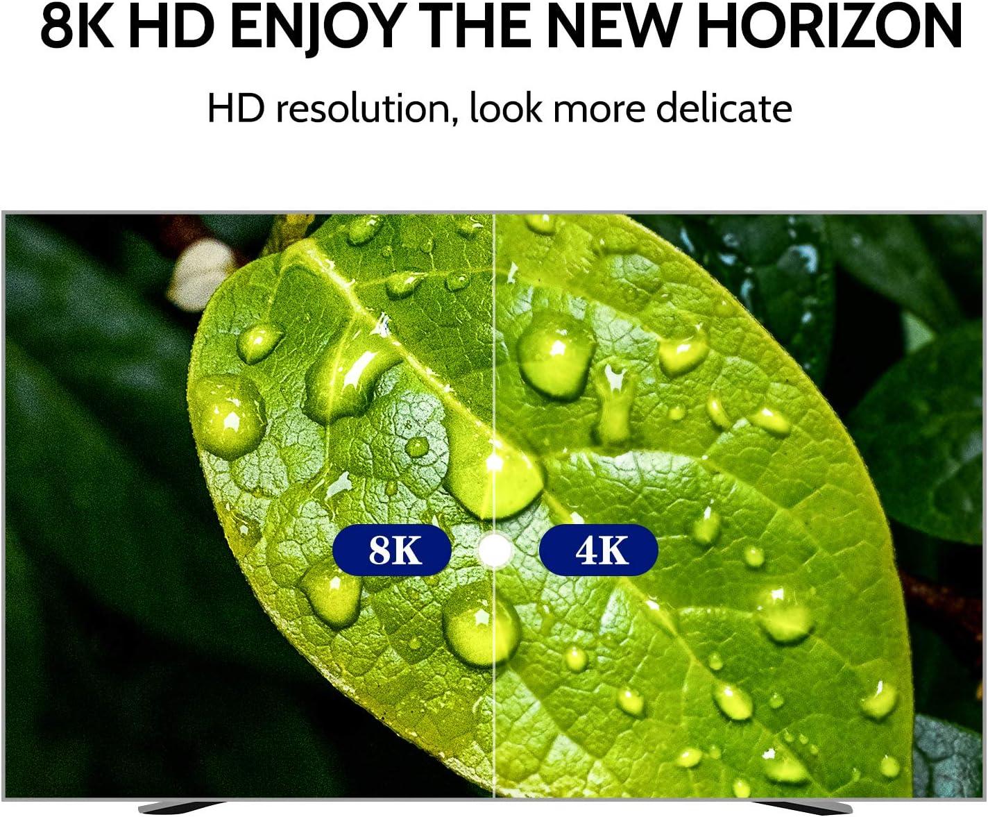 7680P Dolby Vision Hochgeschwindigkeits-48-Gbit//s-8K bei 60 Hz HDCP 2.2 4: 4: 4-HDR eARC AUDIANO 8K HDMI 2.1-Kabel 8K 8K HDMI-Kabel