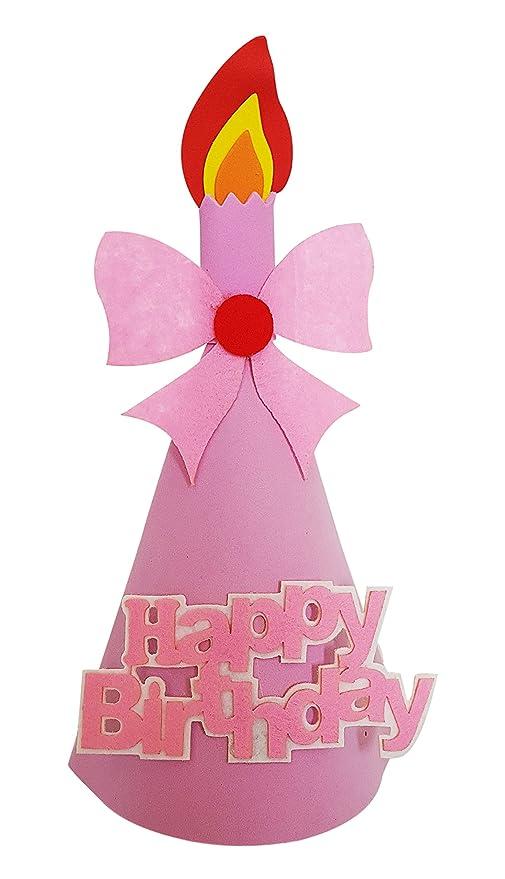 My Party Suppliers Birthday Premium Foam Soft Girl Cap 1st Happy