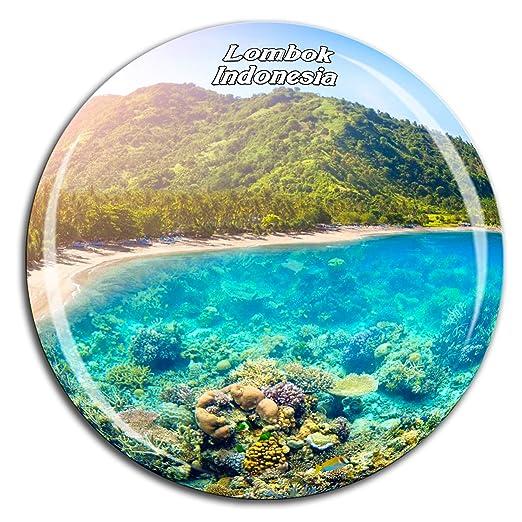 Weekino Souvenir Gili Meno Playa Lombok Indonesia Imán de Nevera ...