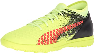 more photos a5e93 dbcdd PUMA Men s Future 18.4 TT Soccer-Shoes, Fizzy Yellow-Red Blast-Puma