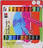 Marabu 121000201 - Acrylfarben Set 18 x 36 ml