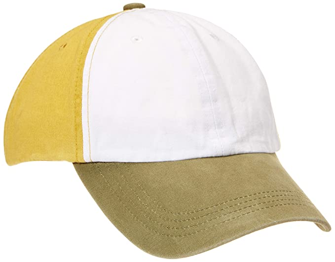 90f50c34 Image Unavailable. Image not available for. Color: Rebel Canyon Men's  Contrast Color Cotton Dad Hat Adjustable Plain Baseball Cap White&Olive