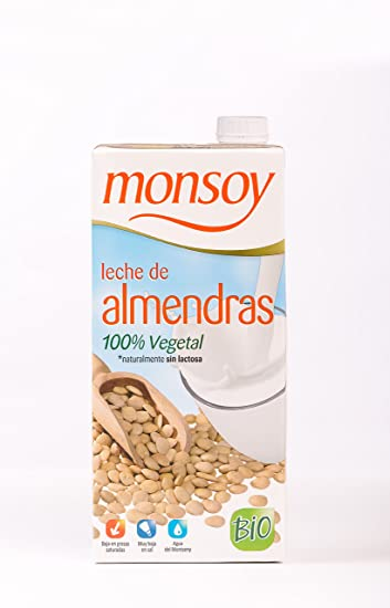 MONSOY Bebida de Almendras Ecologica 1L [caja de 4 x 1L]