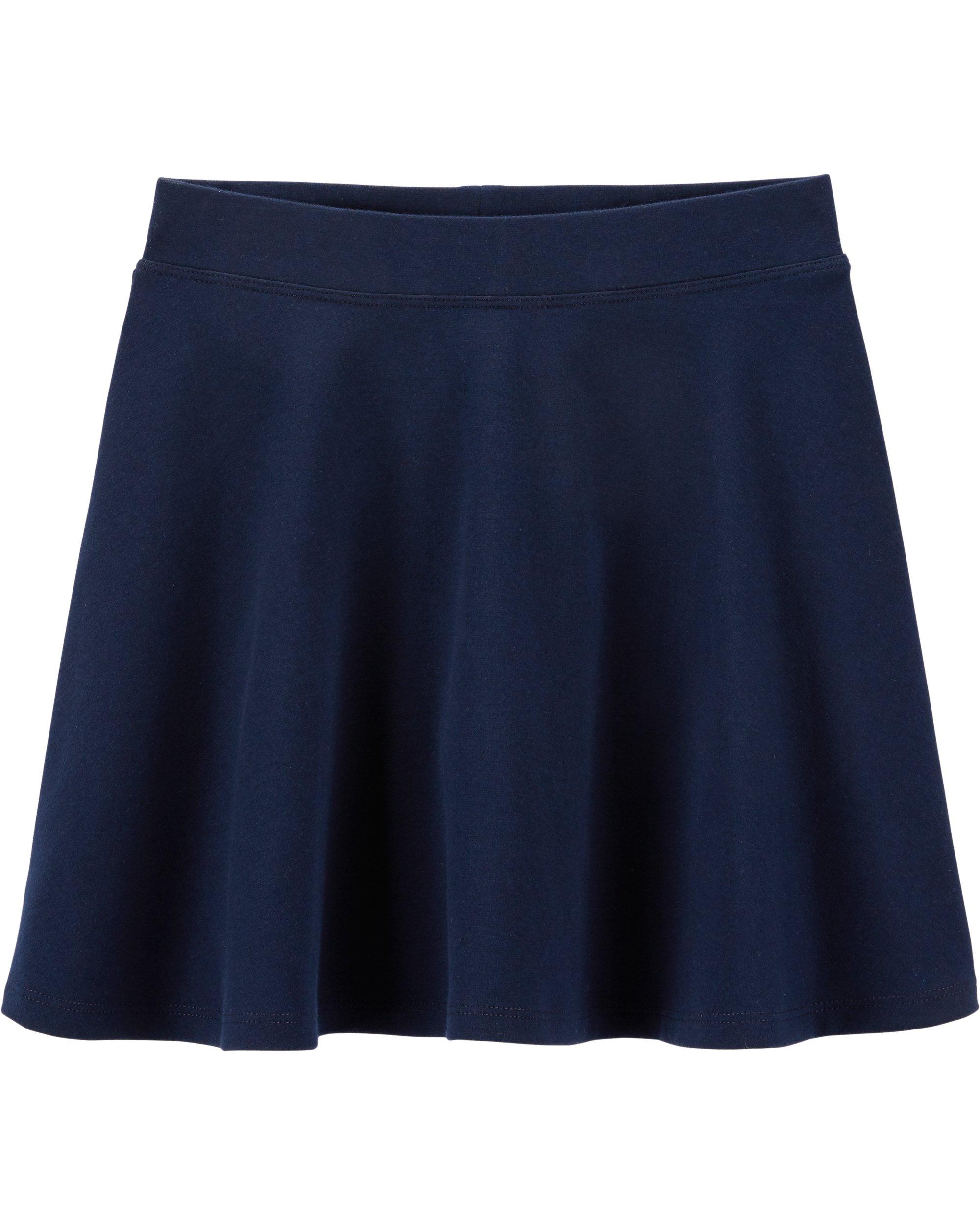 Osh Kosh Girls' Kids Uniform Ponte Skirt, Navy, 10-12