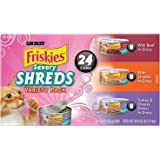 Friskies Wet Cat Food, Savory Shreds, 3-Flavor Variety Pack, 5.5-Ounce Can, Pack of 24