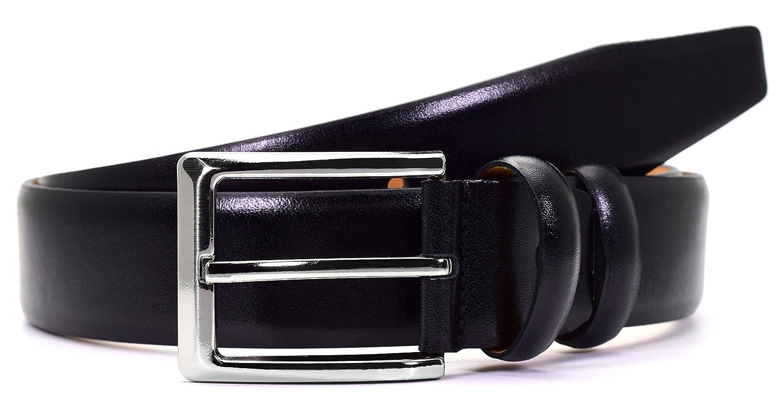 7cc2fb42740e62 Herren Accessoires PABLO CASSINI Leder Gürtel in Schwarz Matt Glanz aus 100%  Kalbsleder Vollleder Mattleder PCB_3
