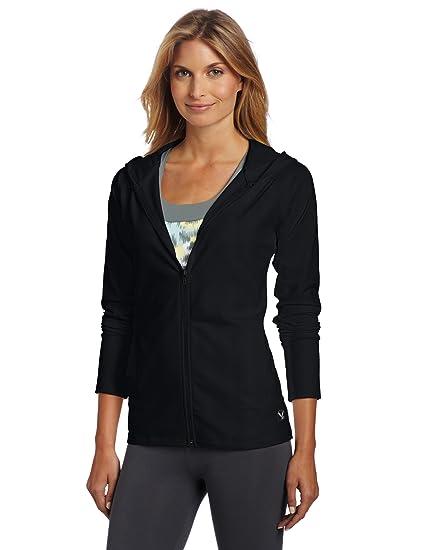 Carve diseños nunca sudadera con capucha de la mujer, mujer, negro
