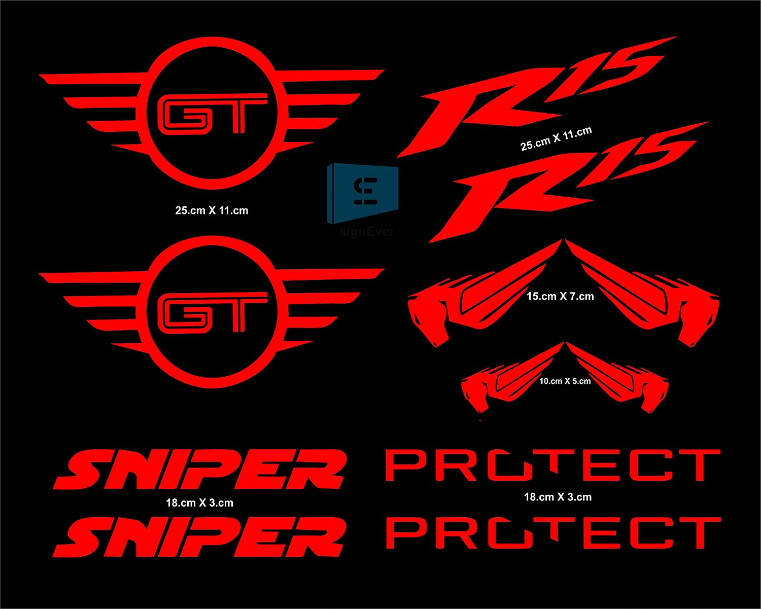 SIGN EVER Bike Stickers Racing Yamaha R15 Decals (Multicolour