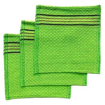 Coreano Exfoliante toalla de baño manopla de Italia (3 unidades) por songwol: Amazon.es: Belleza