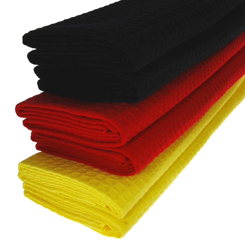 3x Geschirrtücher Küchentücher Putztücher Poliertücher 100/% Baumwolle gelb