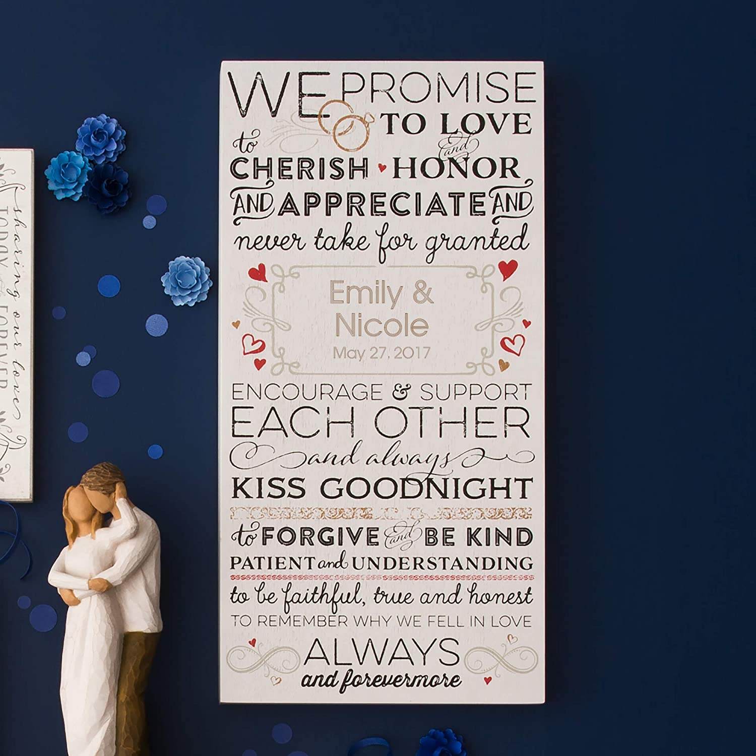 Amazon.com: Things Remembered Personalized Wedding Vows Wall Art ...
