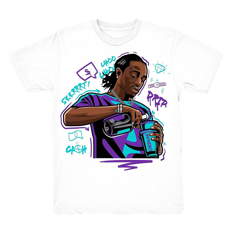 a80fa542c472fb Amazon.com  Grape 5 Quavo Drip Shirt to Match Jordan 5 Grape Fresh Prince  Sneakers White t-Shirts  Clothing