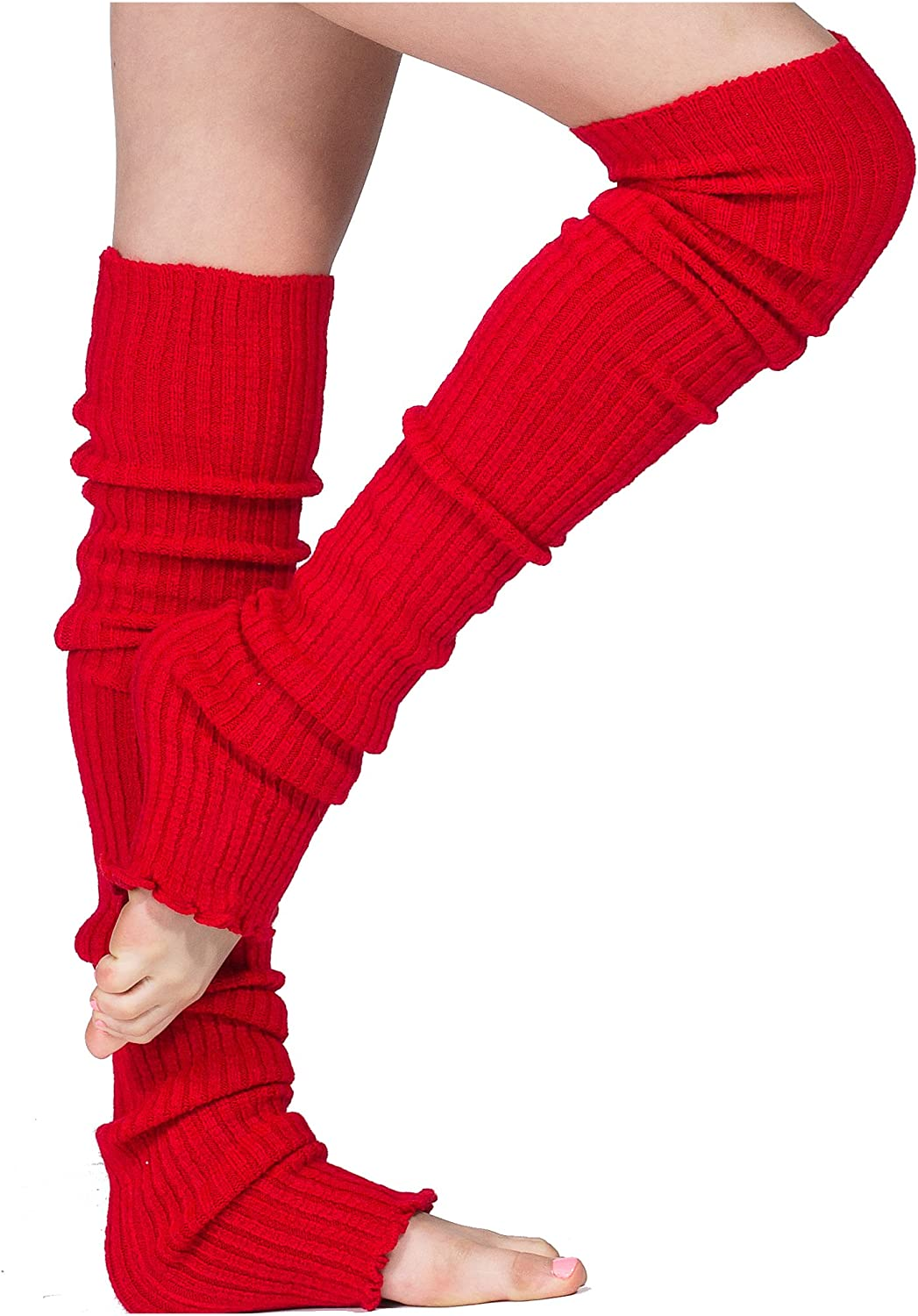 Pro Dancer Thigh High Leg Warmers by KD dance Ribbed Stretch Knit MADE IN USA