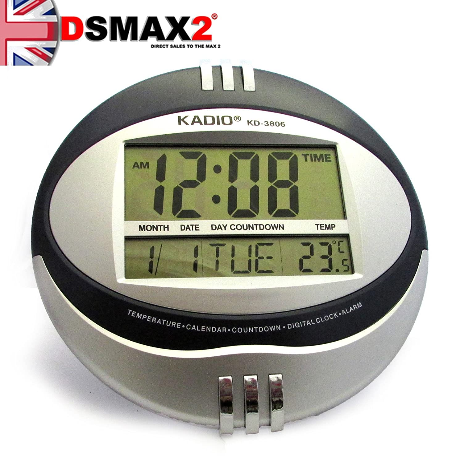 Digital Wall Desktop Clock Large LCD Display Best Quality