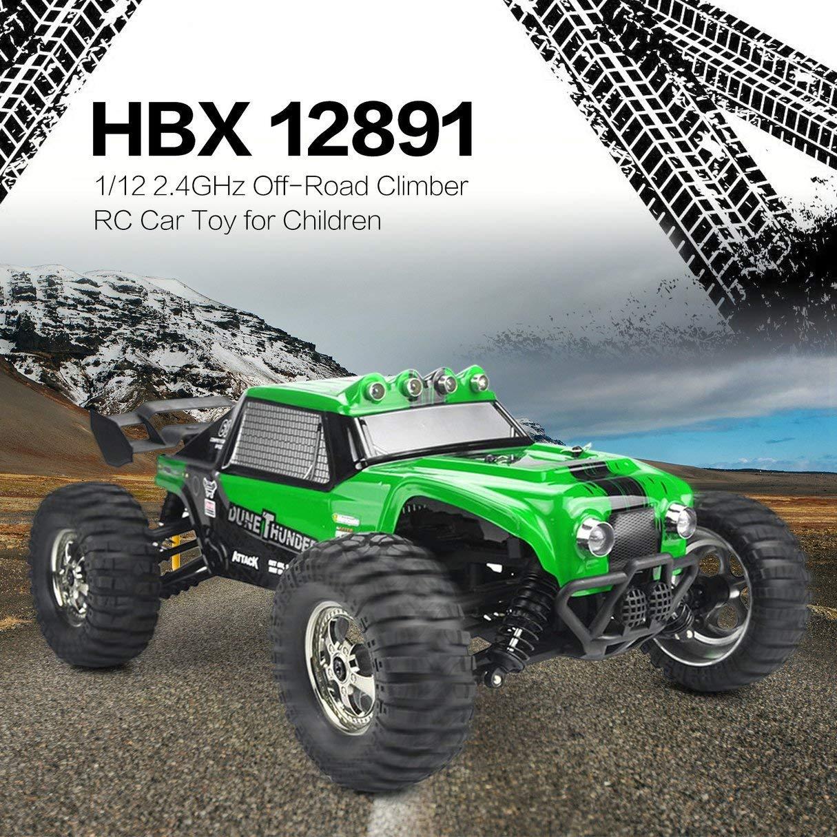 2X Pack Bater/ías Incluidas Velocidad 40km//h Pi/ñones Metal con rodamientos Coche Radio Control MODELTRONIC Coche RC Rally 4x4 Desert Crawler 1//12 Dune Thunder HBX 12891 en 2.4G Resistente Agua