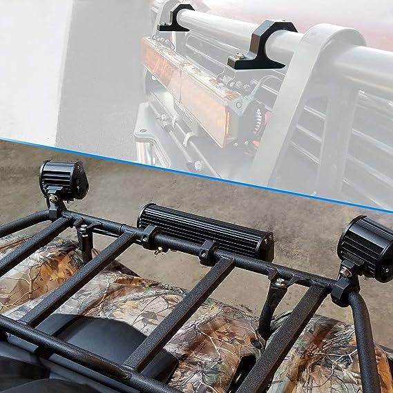 Universal Arbeitsleuchten Halterung Rohr Klemme 25 50 Mm Ideal Für Die Befestigung Von Nebellicht Geeignet Für Frontschutzbügel Geländewagen Auto Lkw Motorrad Auto