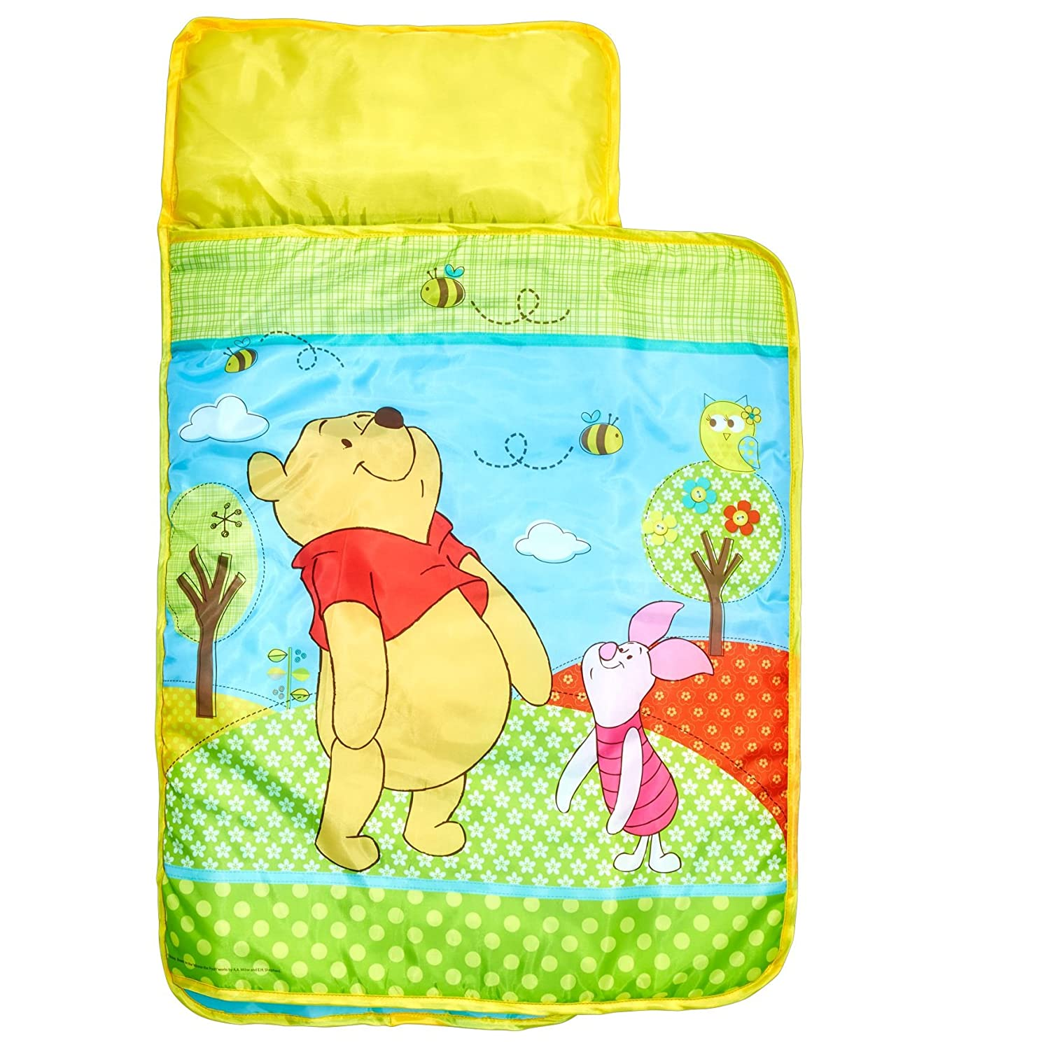 Worlds Apart Winnie The Pooh Letto per Sonnellino, Poliestere,, 110 x 72 x 8 cm 412WIE