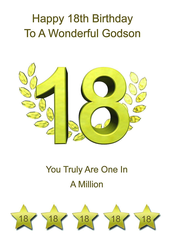 Godson 18 Birthday Card Amazon Office Products