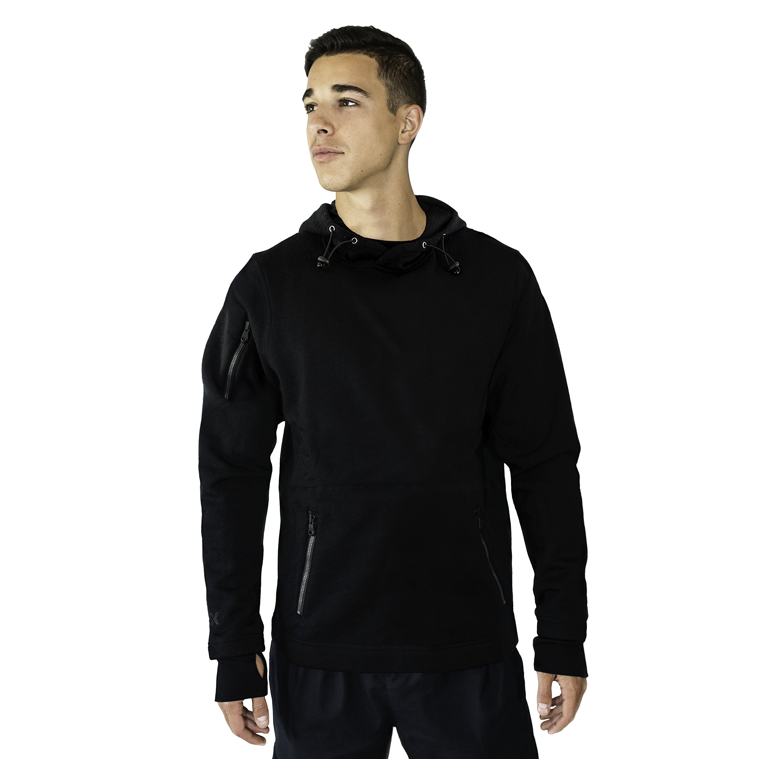 WoolX X712 Mens Grizzly Pull Over Jacket - Black - LRG