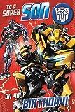 Transformers Son Badged Birthday Card