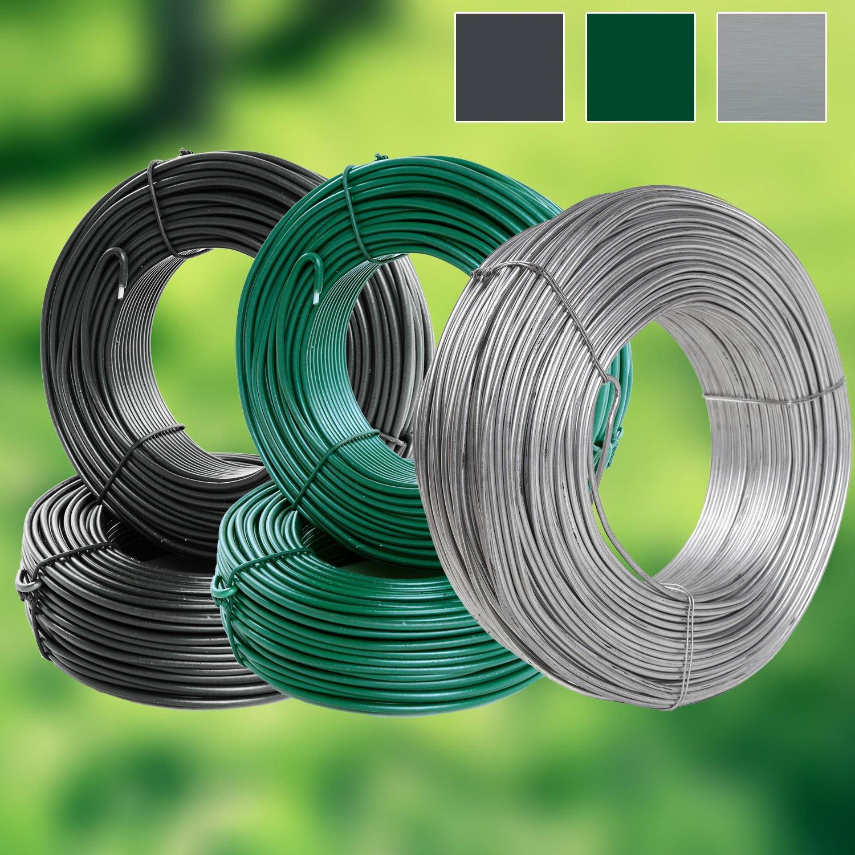 grün 110m Spanndraht 3,1mm Bindedraht Maschendrahtzaun Maschendraht Zaun