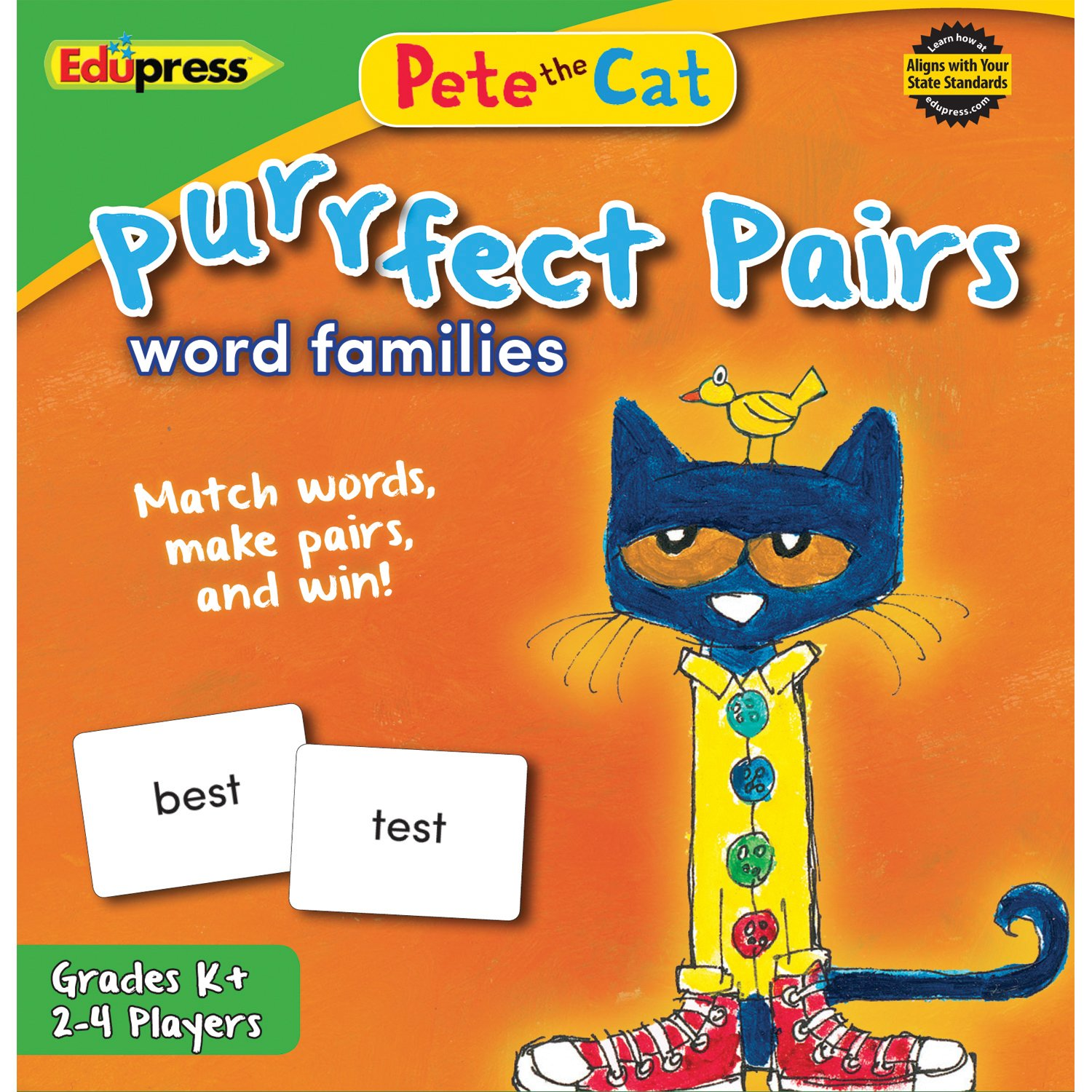 Teacher Created Resources OS EP63532 Word Families Pete the Cat Purrfect Pairs Game EP-3532
