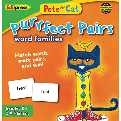 Amazon Com Pete The Cat Purrfect Pairs Game Word Families Ep 3532