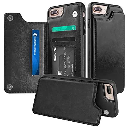 new arrival 73ad2 2b43f iPhone 7 Plus Wallet case,iPhone 8 Plus Wallet: Amazon.in: Electronics