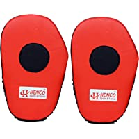 Henco Focus Boxing and Karate Punching Pads/Coach Pads, 30 cm x 7 cm (Red, 1 Pair)
