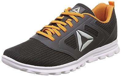 best service c8d99 6bcb3 Reebok Men s Tropical Run Lp Gravel Blk Nacho Running Shoes-10 UK