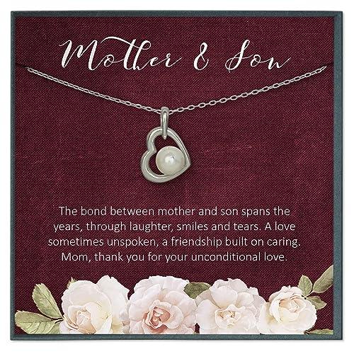 Grace of Pearl Collar con Cita de la Madre Hijo, Regalo de ...