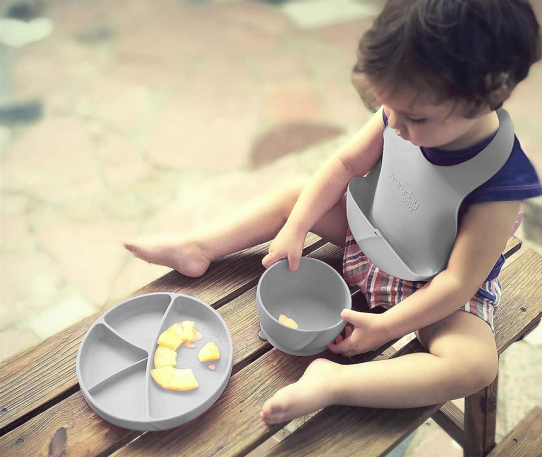 rosa Everyday Baby-Plato de Silicona para Beb/é