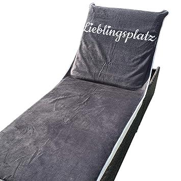 De Homelevel Anthrazit Housse Lieblingsplatz 200 X Jardin 75 Imprimé Pour Protection Chaise Cm Longue nwO0mvNy8P