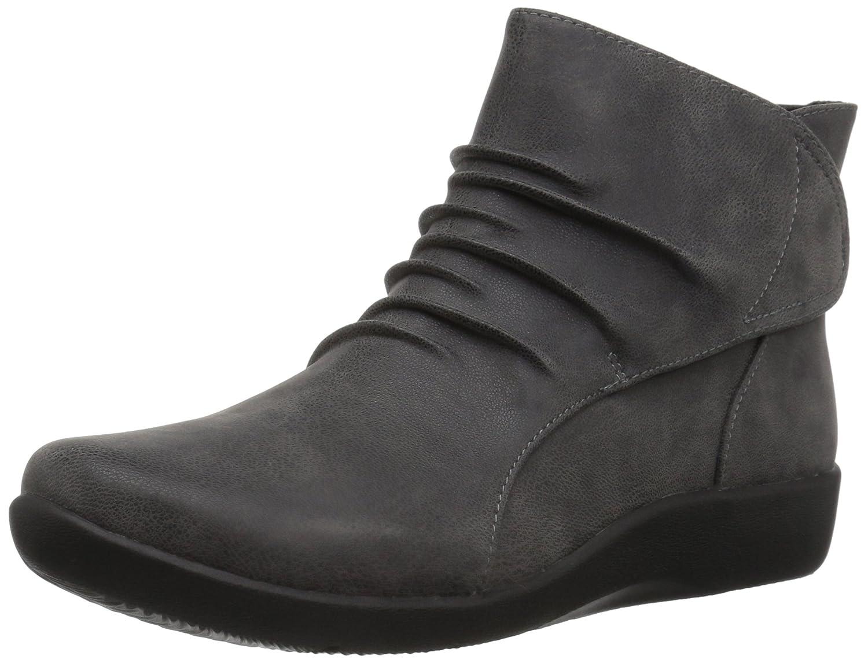 CLARKS Women's Sillian Sway Ankle Bootie B01NBKB1TS 12 W US|Grey