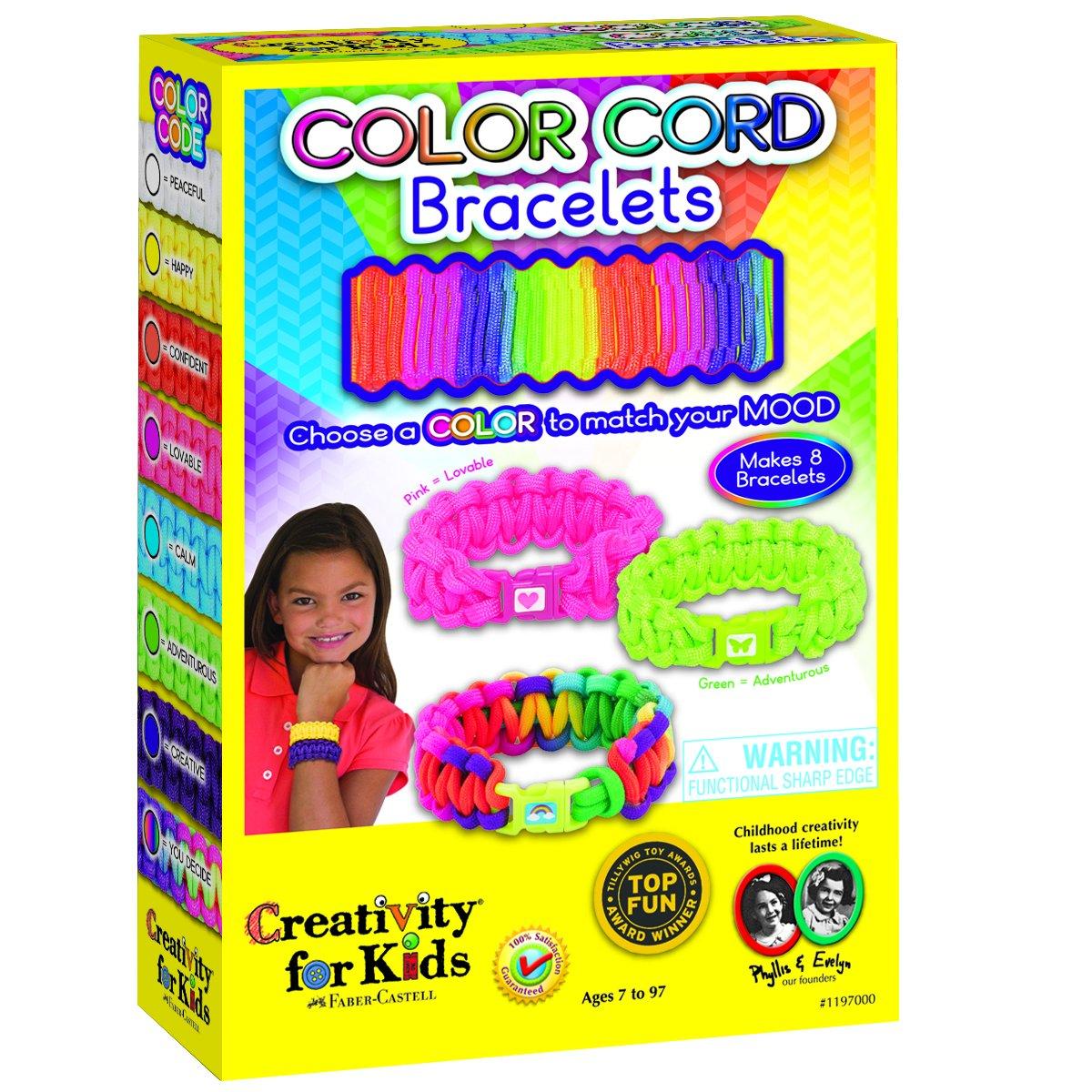 Creativity For Kids Paracord Bracelet Kit - Amazon com creativity for kids color cord bracelets makes 8 paracord bracelets toys games