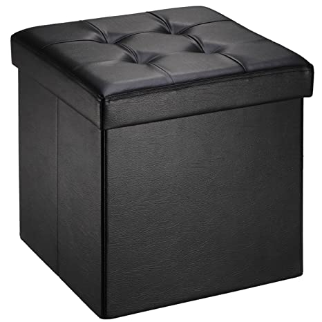 Excellent Amazon Com Ollieroo Faux Leather Folding Storage Ottoman Creativecarmelina Interior Chair Design Creativecarmelinacom