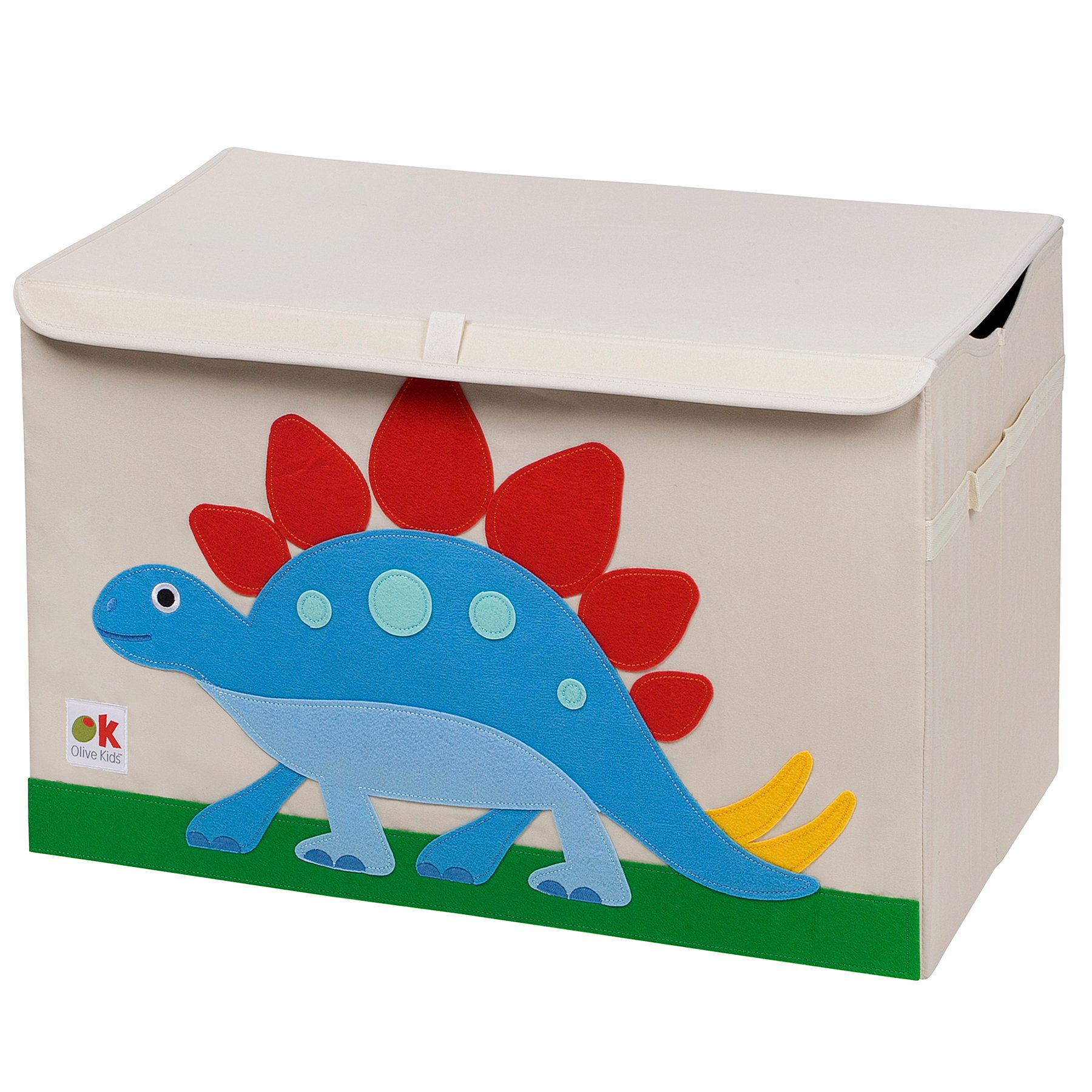 Wildkin Olive Kids Toy Chest, Perfect for Playroom Organization, Measures 24 x 15 x 14 Inches, Coordinates with Other Room Décor – Dinosaur Land